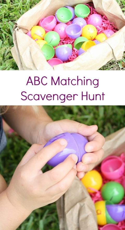 ABC Matching Scavenger Hunt~Someone has broken all of the eggs in our ABC nest and its up to you to help mama bird find and fix them all