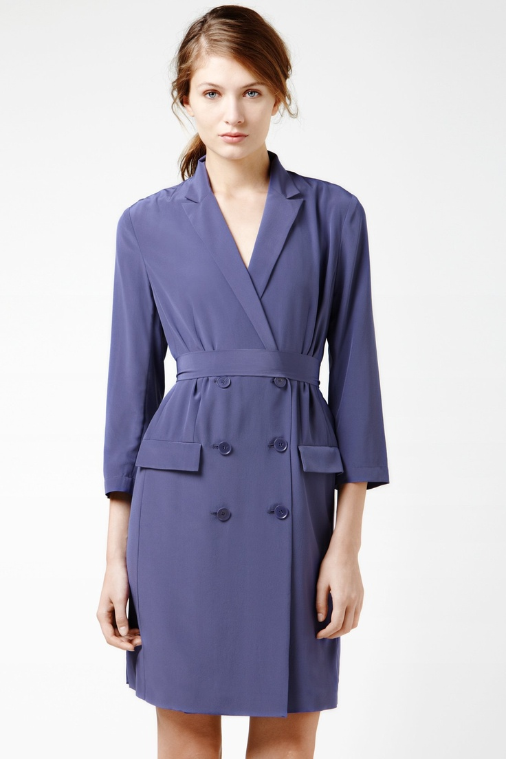 Yep, I'm in love.  Lacoste 3/4 Sleeve Crepe Double Breast Trench Dress : Dresses