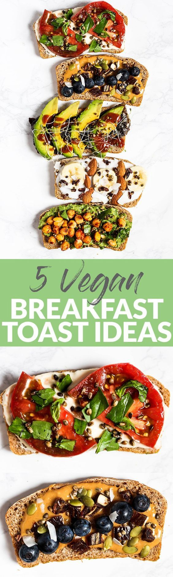 Amp up your plain piece of toast with these 5 Vegan Breakfast Toast Ideas! With both sweet & savory options, there's a toast creation perfect for any craving. (can be gluten-free) @ManitobaHarvest #ToastedonToast #ad