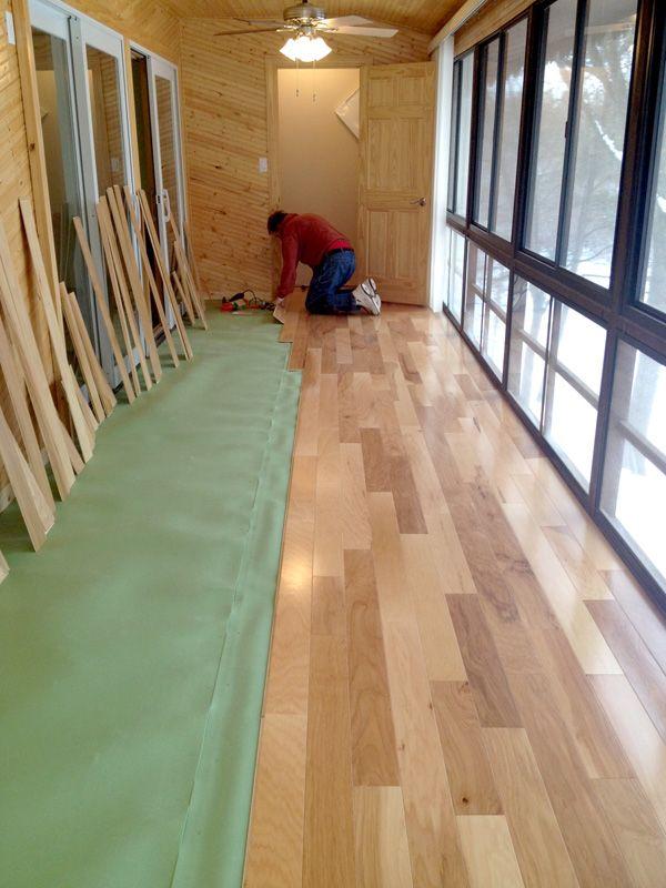 Floor Muffler Installation Photo compliments: Boyd H.  #hallway #underlayment #installation