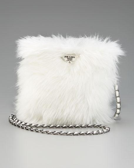 Prada Shoulder Bag: Faux Fur, Shoulder Bags, Prada, Furry Handbags, Eco Pelliccia, Pelliccia Faux, Fur Satchel, Fauxfur, While