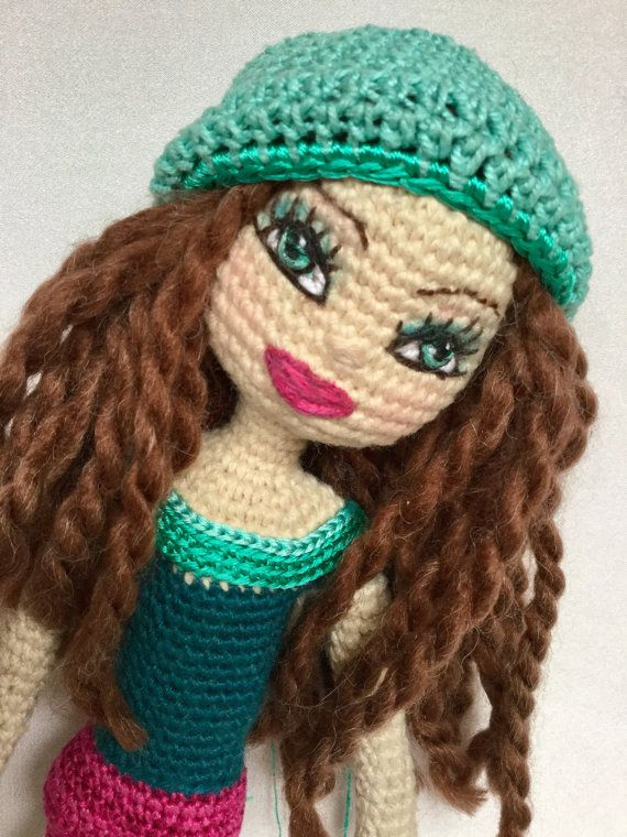 311 best crochet doll eyes mouth nose images on pinterest made to order crochet doll you choose the body styling i use a ccuart Image collections
