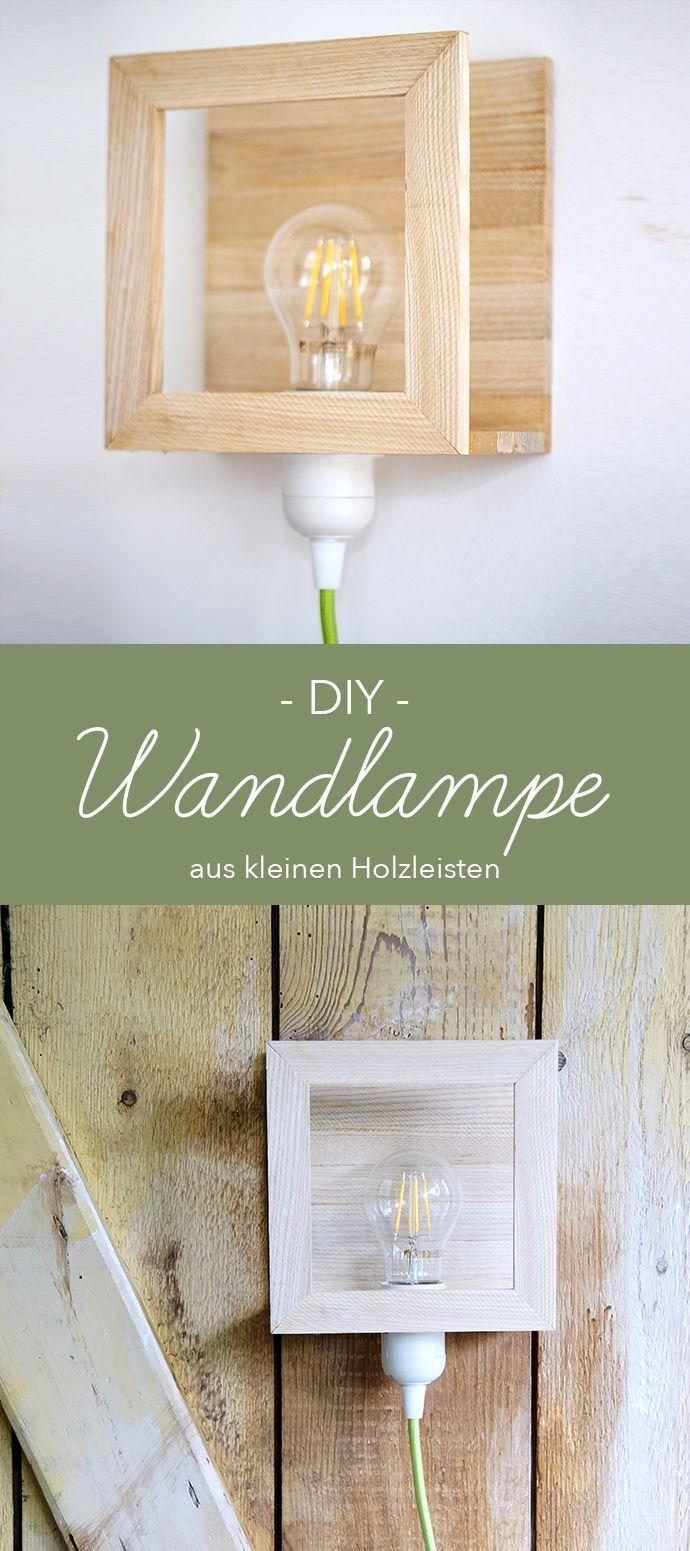 Wandlampe Aus Holzleisten Selbst Gebaut Mit Bildern Wandlampe Lampe Holz Selber Machen Holzleisten