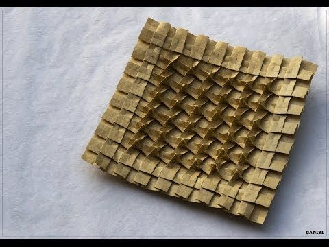 ▶ Origami - How to fold the Mystery Tessellation - YouTube
