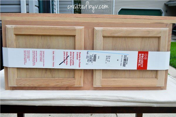 """It all started with this stock kitchen cabinet and a little inspiration from Lowe's new web series, """"The Weekender."""" Have you seen it?  Monica Mangin of East Co…"""