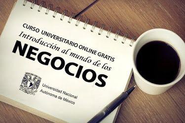 Curso online gratis de Negocios dictado por la UNAM