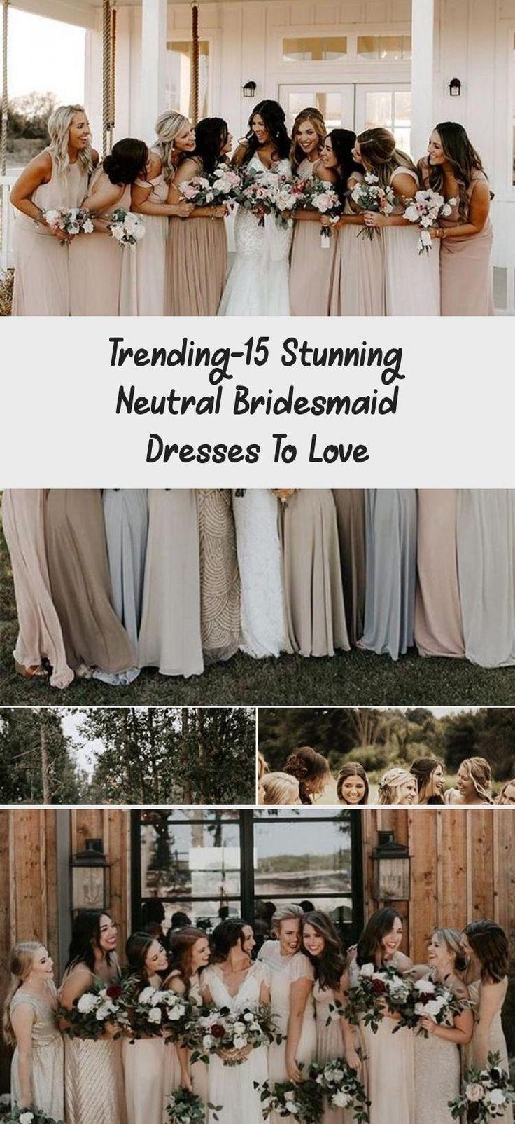 neutral champagne bridesmaid dresses #obde #weddingideas2019
