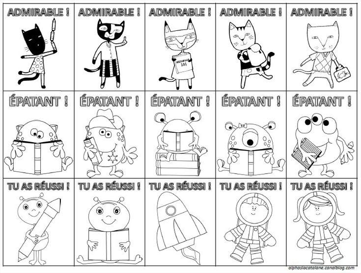 Etiquettes d'encouragements et de félicitations (LaCatalane)
