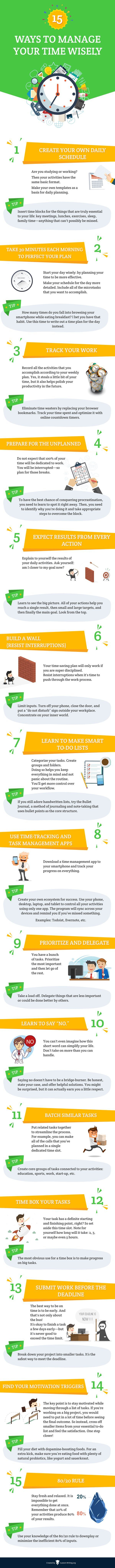 Productivity tips: Time management is crucial to your success. Win with the tips on this infographic! Click to blog for more small business tips and resources. #productivity #smallbusiness #career #goalsetting #successtips #entrepreneurship
