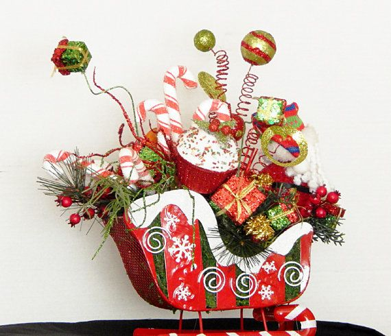 28 Best Images About Holiday Sleigh Centerpieces On