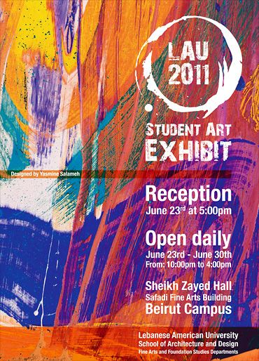 Group art exhibition poster