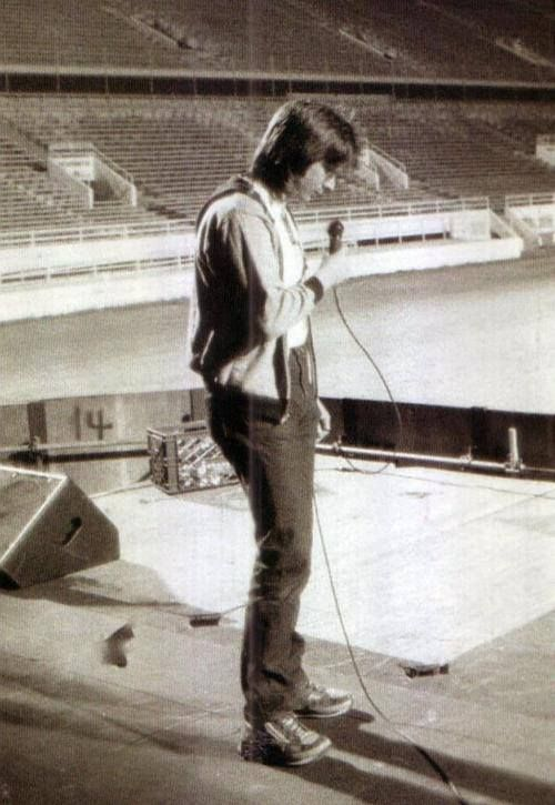 Steve Perry prior to a Journey concert.