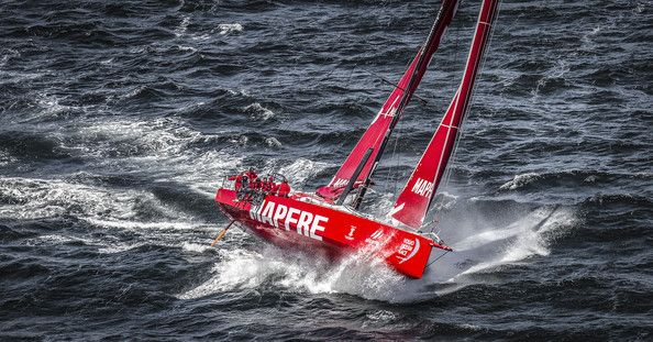 In this handout image provided by the Volvo Ocean Race, MAPFRE during the Cape Town Practice Race of the Volvo Ocean Race 2014-15 on November 14, 2014 in Cape Town, South Africa. The Volvo Ocean Race 2014-15 is the 12th running of this ocean marathon. Starting from Alicante in Spain on October 04, 2014, the route, spanning some 39,379 nautical miles, visits 11 ports in eleven countries (Spain, South Africa, United Arab Emirates, China, New Zealand, Brazil, United States, Portugal, France…