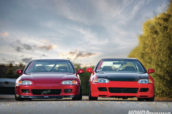 1995 Honda Civic EXs - The Coupe Bros.