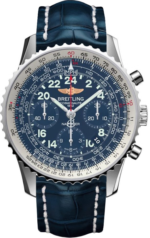 AB0210B4/C917-732PNEW BREITLING NAVITIMER COSMONAUTE MENS LUXURY WATCH FOR SALE IN STOCK - Luxury Sales Event on All Breitling WatchesExtended Returns until January 31st, 2016   - FREE Overnight Shipping | Lowest Price Guaranteed    - No Sales Tax (Outside California)- With Manufacturer Serial Numbers- Aurora Blue Dial- Date Feature- Chronograph Feature- 70 Hour Power Reserve- Manual Winding Movement- Breitling Caliber 02- Vibrations Per Hour: 28,800- Jewels: 39- 6 Year Warranty- Guaranteed…