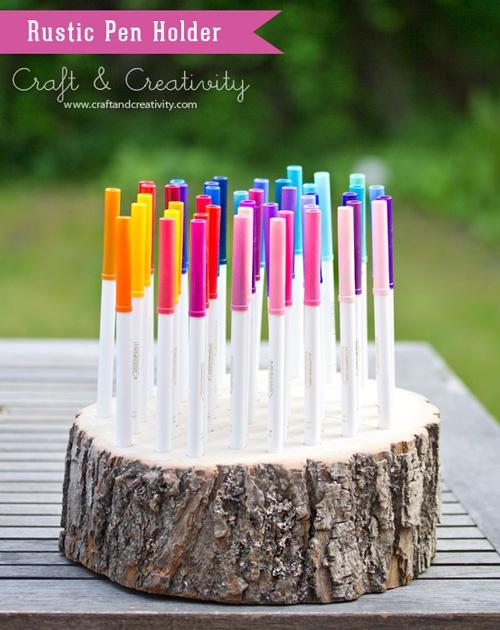 DIY wooden pencil / marker holder
