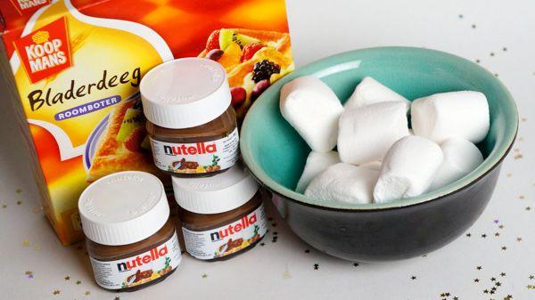 nutella/marshmallow flapjes