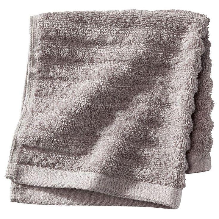 Textured 2-pc Bath Sheet - Nickel - Threshold, Graystone