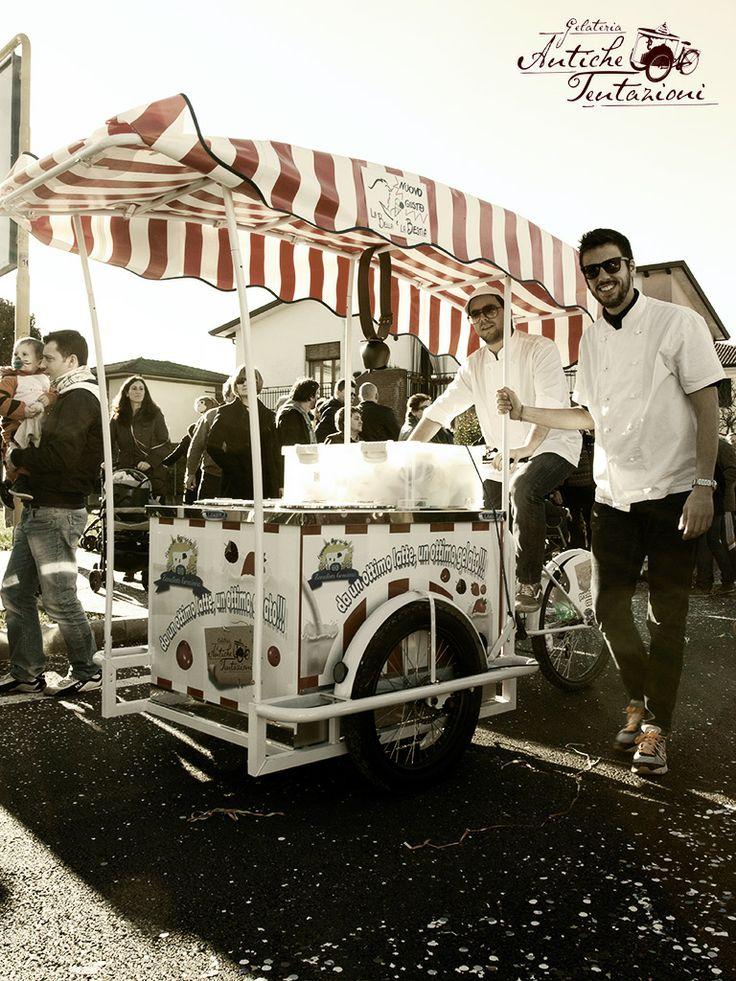 Il carretto dei gelati al Carnevale!