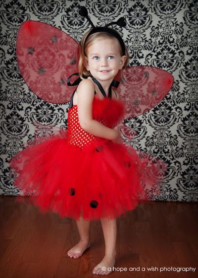 Halloween Red Ladybug Baby Girls Couture by PoshBabyGirlTutus