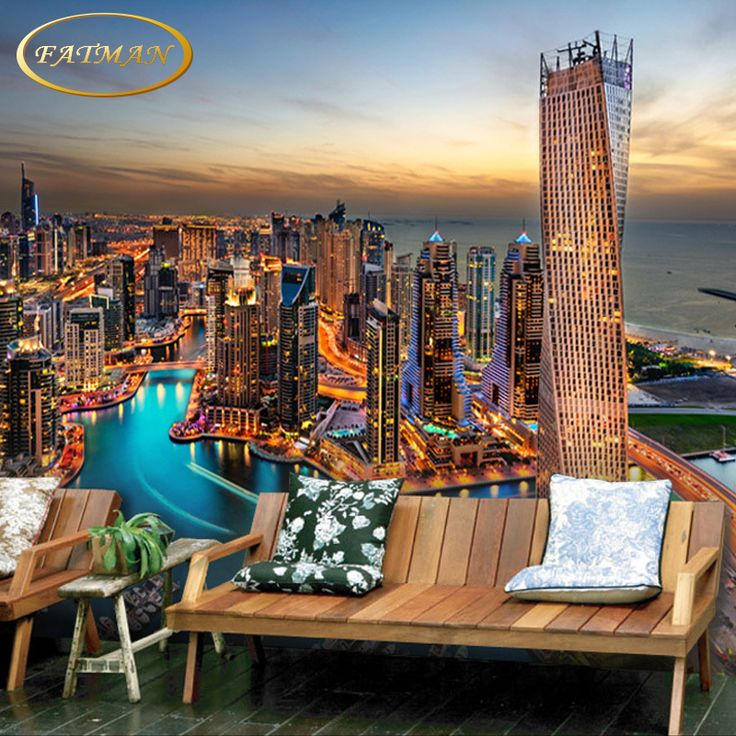 Custom 3D photo wallpaper Modern Urban Landscape wallpaper bedroom living room lobby studio wallpaper mural papel