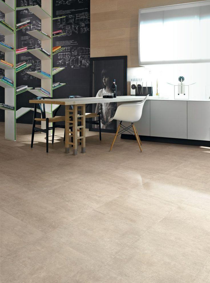 Betonlook 60x60 met zijdeglans in sabbia kleur (16) Tegelhuys