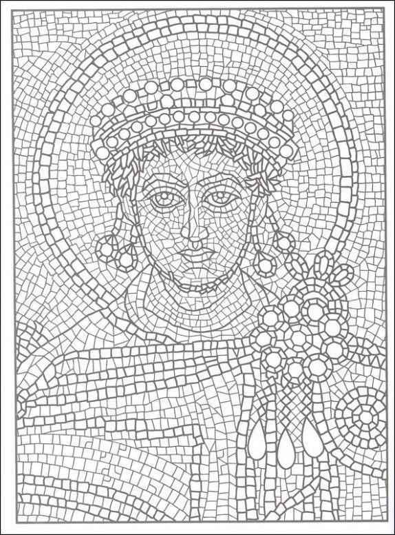 printable roman mosaic