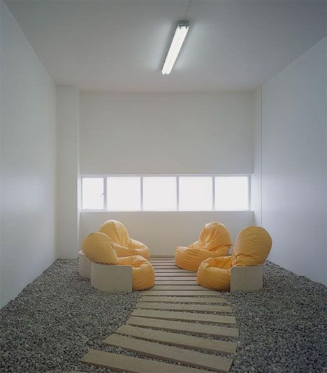 Now Here Is Something Quite Off Tradition The Modern Minimalistic Bean Bag Meeting Room