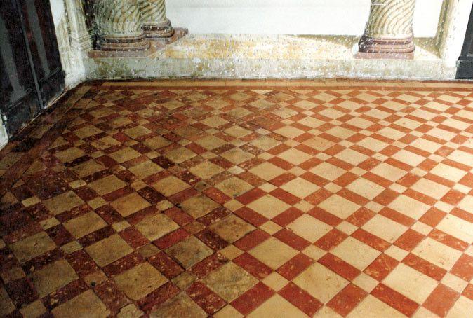 Pavimento in cotto fatto a mano Nocciolato - Villa Barbarigo - Noventa Vicentina (VI) Secolo XVI