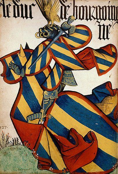 Le duc de Bourgogne, Grand Armorial équestre de la Toison d'Or, Flandres, 1430-1461.