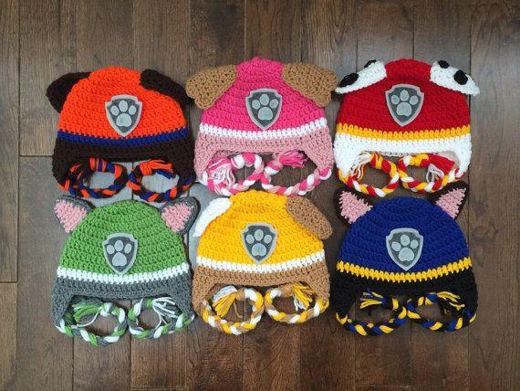 Patte de patrouille Crochet caractère chapeaux, sur mesure, nouveau-né enfant adulte, photographie Prop