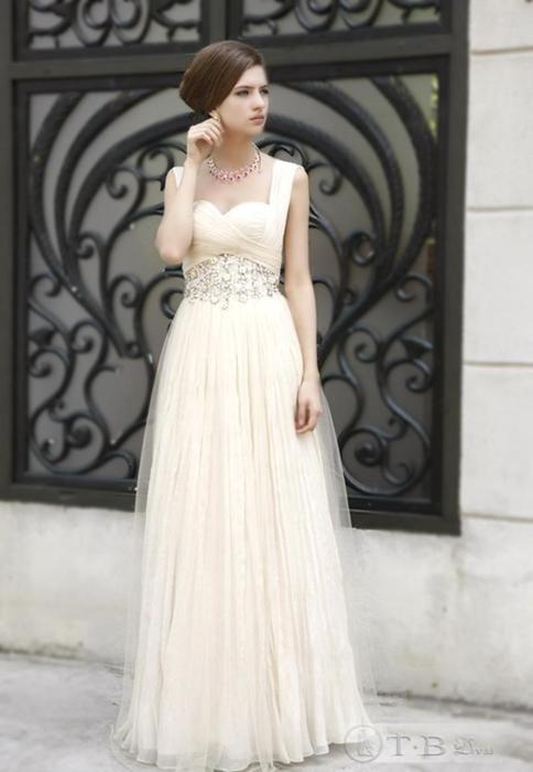 wedding gown.