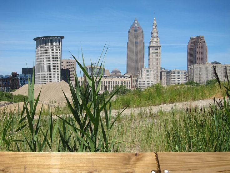 Downtown skyline from Cleveland Foundation Centennial Trail