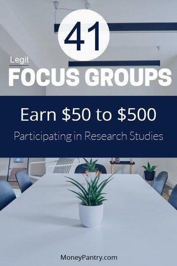These research firms pay you to participate in their local and online focus group and taste testing studies