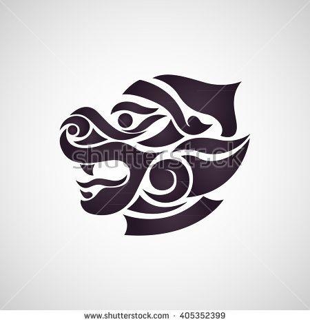 monkey thai art stock vector logo by ilovecoffeedesign