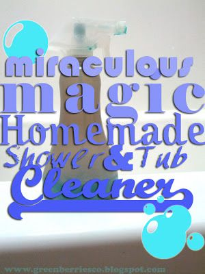 shower cleaner. equal parts blue dawn and vinegar. spray on and let sit 30 min, rinse