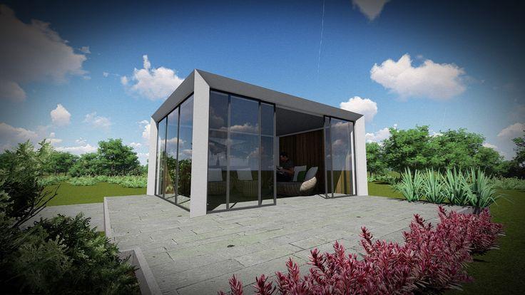 Impressie moderne veranda