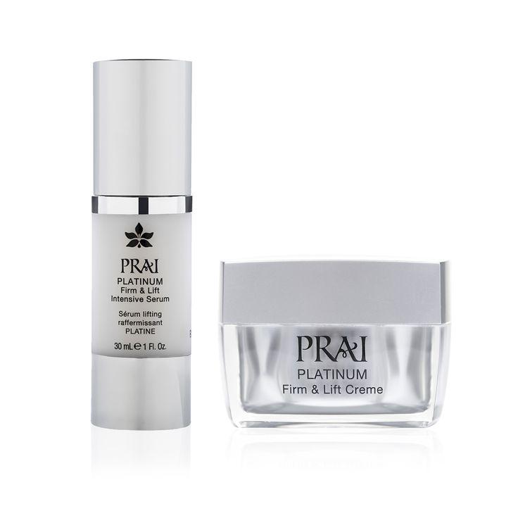 Prai Platinum Face: duo siero intensivo e crema viso (2 pz) #QVCPressDay