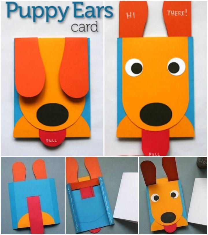 Diy Paper Puppy Pop Up Greeting Card Birthday Card Pop Up Birthday Cards Diy Cool Birthday Cards