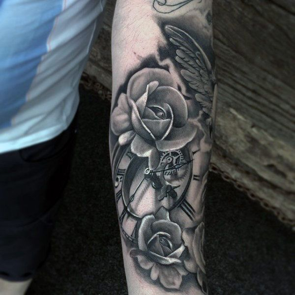 75 Black And White Tattoos For Men Masculine Ink Designs Tattoos For Guys Black And White Flower Tattoo White Tattoo
