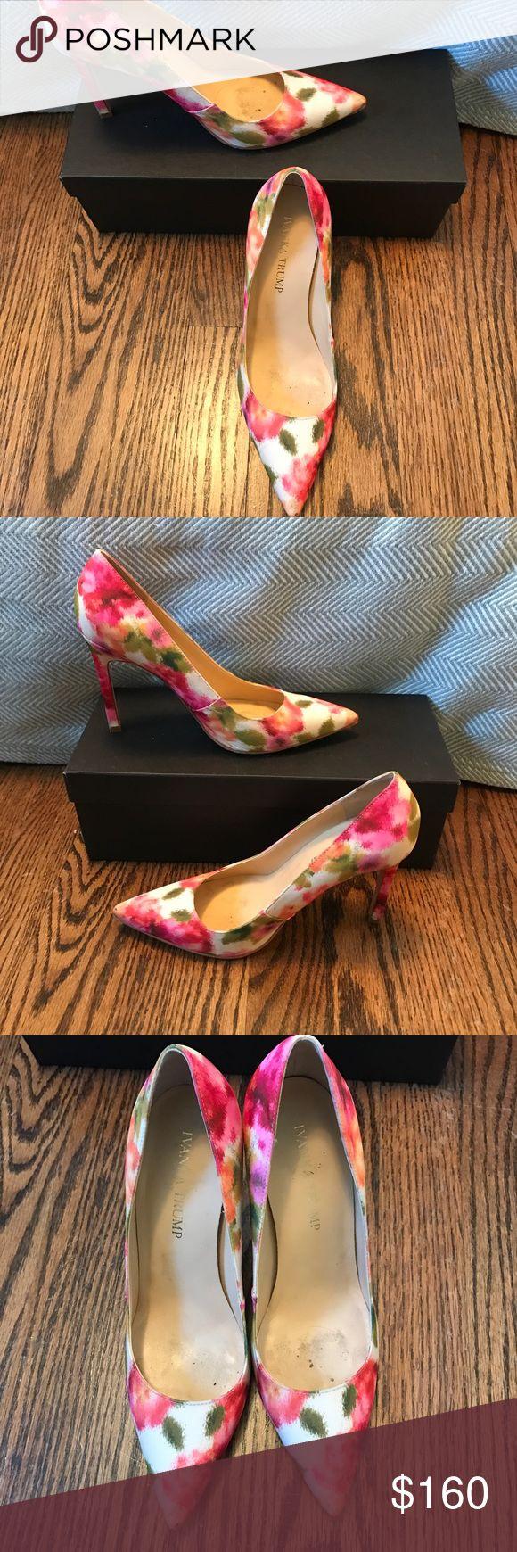 Beautiful multi-color Ivanka Trump pumps-size 6.5 Beautiful multi-color pumps - 3 inch height. Gorgeous color! Ivanka Trump Shoes Heels