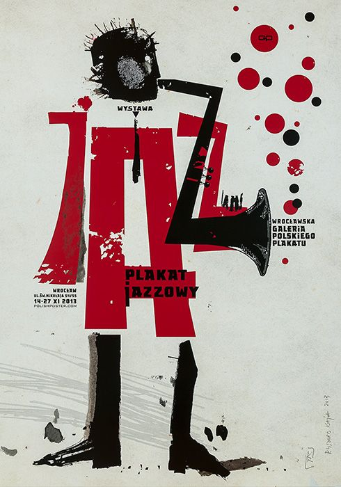 Ryszard Kaja, Wystawa Plakat Jazzowy, 2013, Size: B1
