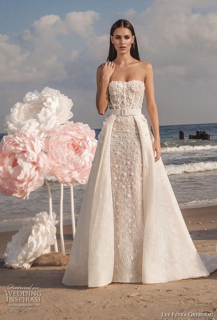 lee petra grebenau fall 2019 bridal strapless sweetheart neckline bustier full e…
