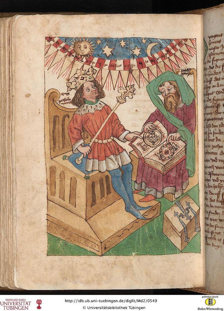 Md 2: Md 2 Tübinger Hausbuch: Iatromathematisches Kalenderbuch ; die Kunst der Astronomie und Geomantie (Württemberg, [15. Jh.])