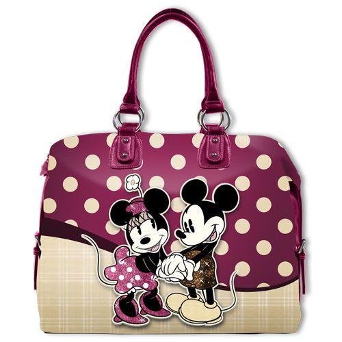 Borsa Disney Woman Bag Mickey And Minnie Topolino Glamour Fashion Shoulder Bag
