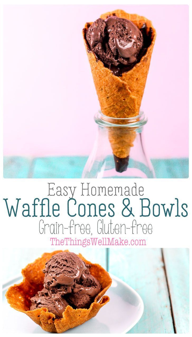 Grain free ice cream cones recipe gluten free ice
