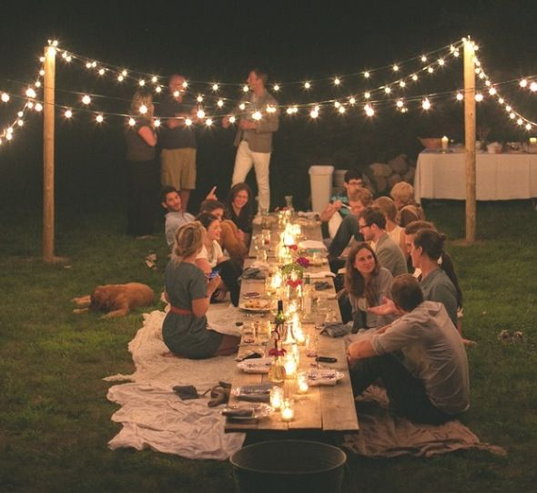Image result for fairy lights BBQ