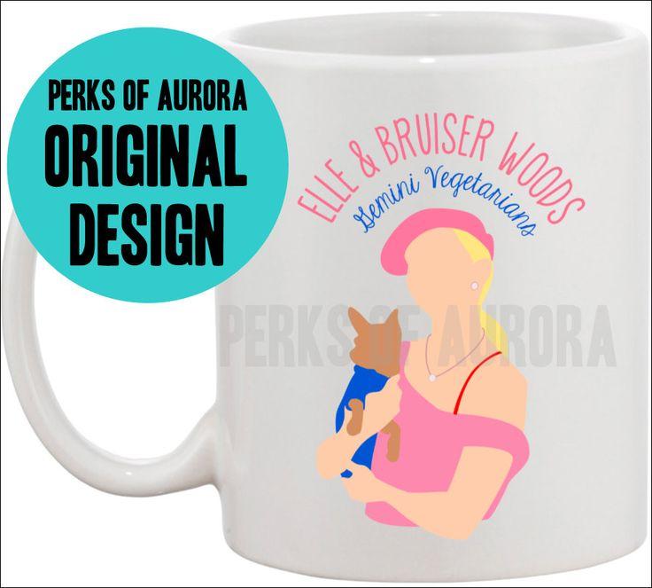 """Legally Blonde- """"Elle and Bruiser Woods, Gemini Vegetarias"""" coffee mug -Jamie"""