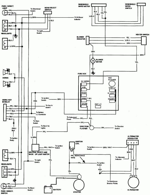 complite electrical wiring diagram 84 chevy nova  dome