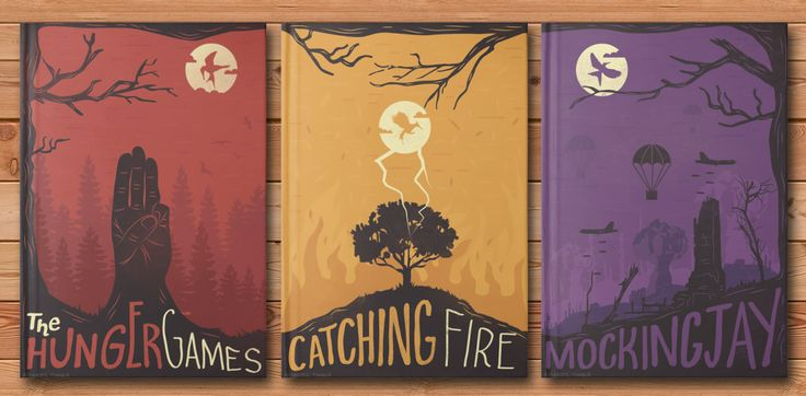 The Hunger Games Trilogy: Triptych Posters/Covers I took on a new personal project to create cohesive covers for my favorite trilogy.